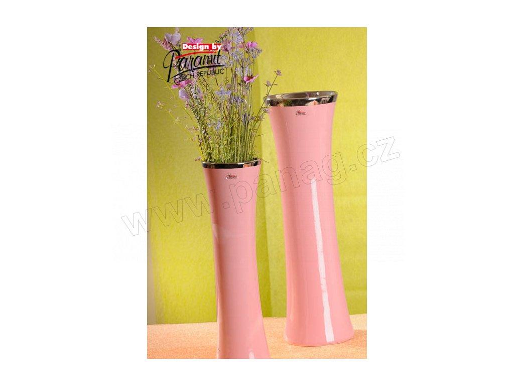 12097 40P váza mato růžová 40 cm