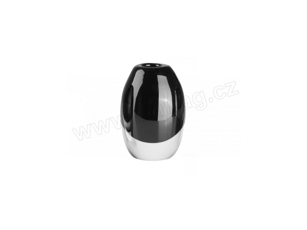 Skleněná designová váza černá 5 x 8 cm - by inspire