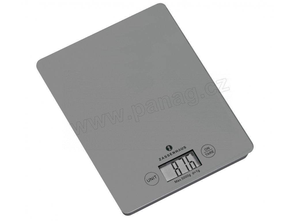 Digitální kuchyňská váha šedá BALANCE do 5 kg - Zassenhaus - 073485