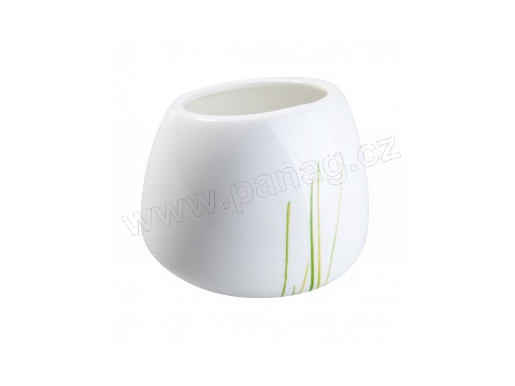 Porcelánová cukřenka 120 ml GRASS - bílá/zelená - by inspire