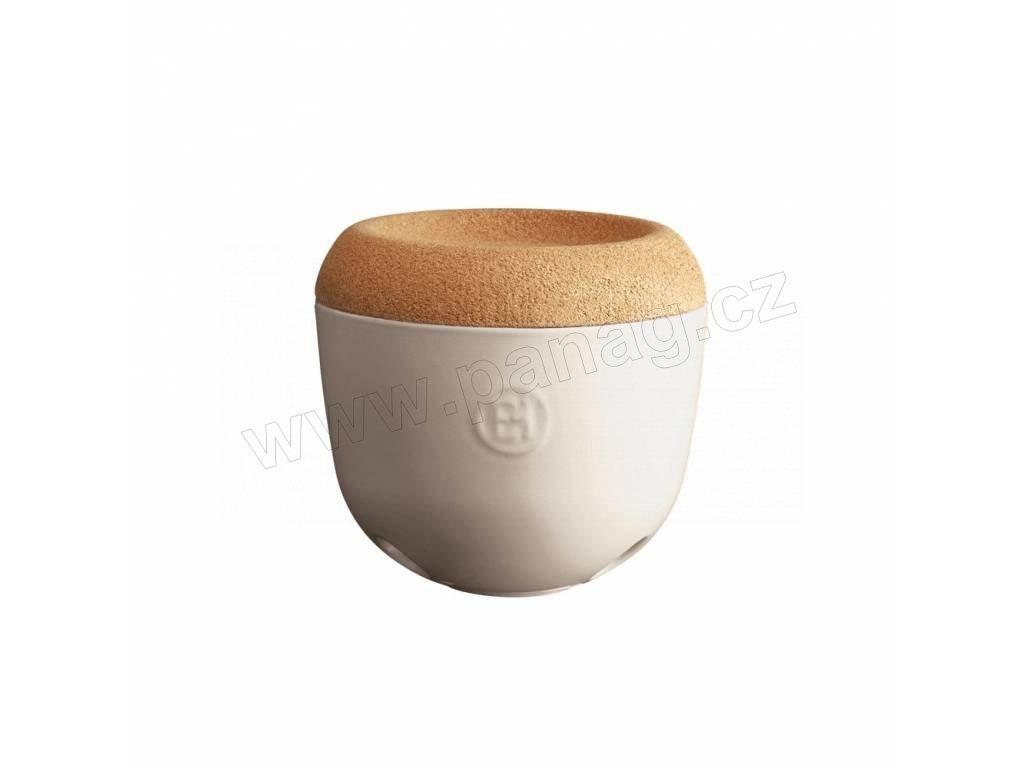 Miska na česnek a cibuli s korkovým víkem 1 l -slonová kost - Emile Henry - 028763