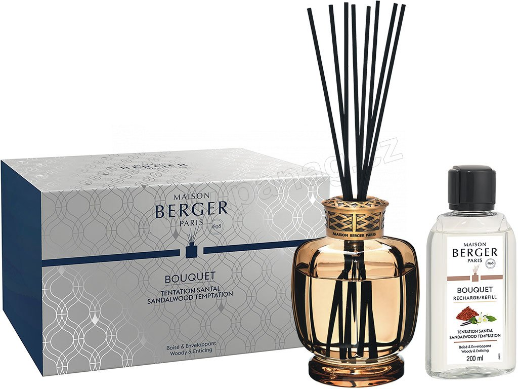 6224 Aroma difuzér Belle Epoque s vůní Pokušení santalového dřeva 200 ml, hnědýod Maison Berger Paris