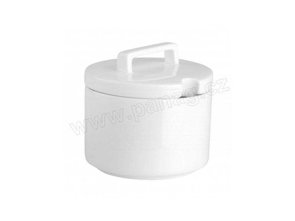 Cukřenka Quadro round 9 cm PURE - bílá - by inspire