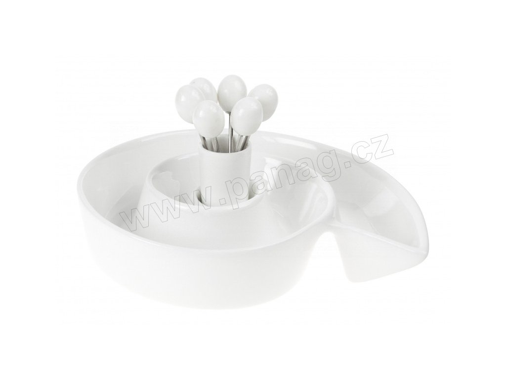 Porcelánová miska na olivy 21 cm PURE - bílá - by inspire