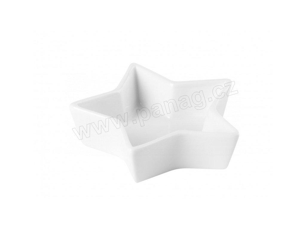 Porcelánová miska Hvězda 9x2,5 cm PURE - bílá - by inspire