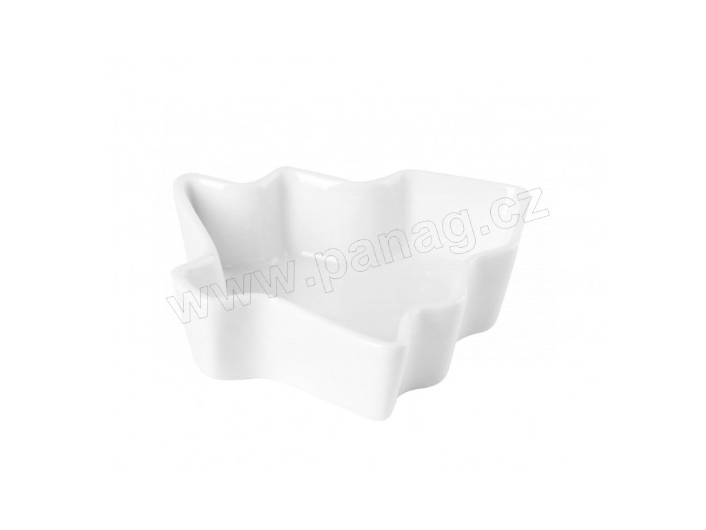 Porcelánová miska Strom 10x10x2,5 cm PURE - bílá - by inspire