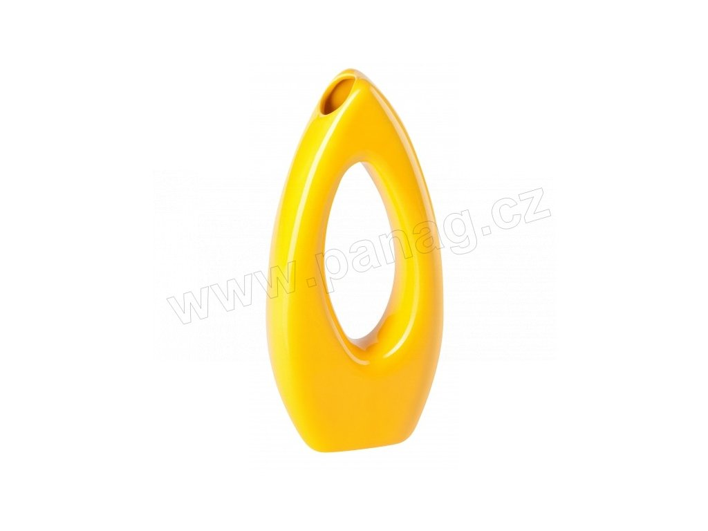 Váza Eye 13 x 5 x 28 cm žlutá - by inspire