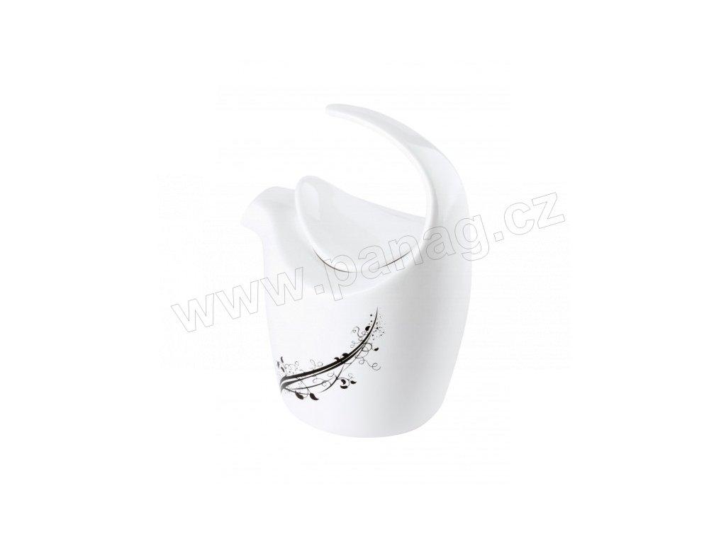 Porcelánová mléčenka 300 ml, 9 x 12 cm BLACK - by inspire 8703-00-02