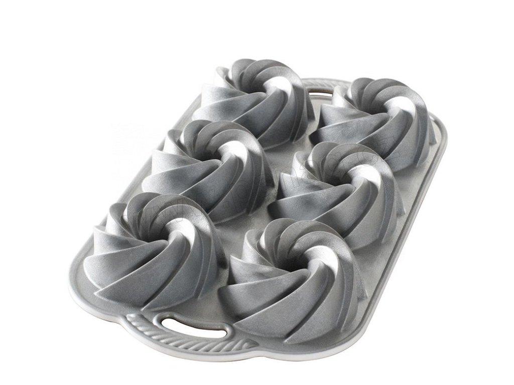 88037 Forma na mini bábovky 950 ml 6 ks stříbrná