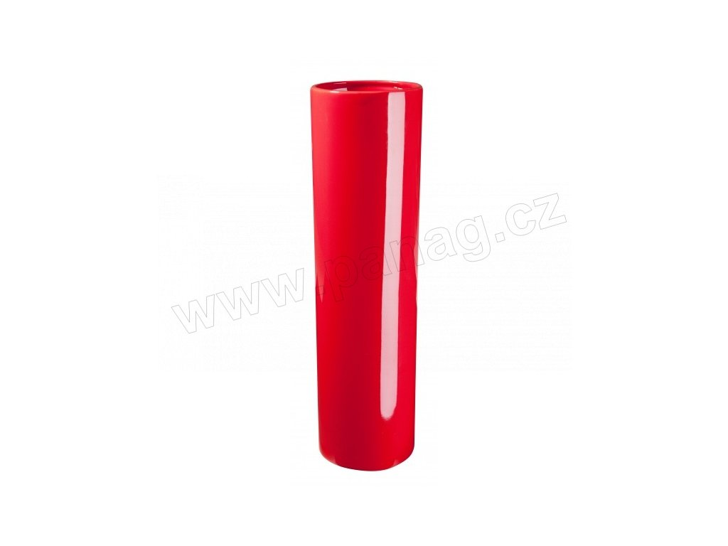 Váza Slot 35 cm červená - by inspire