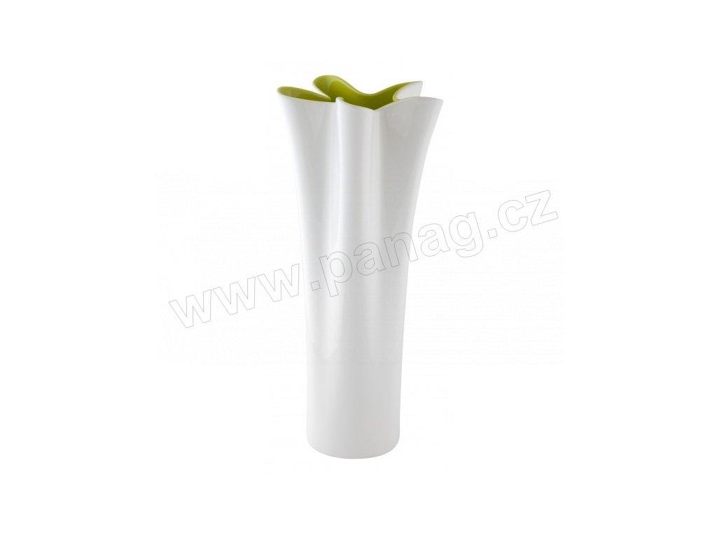 Váza Flover 16 x 36 cm světlezelená/bílá - by inspire