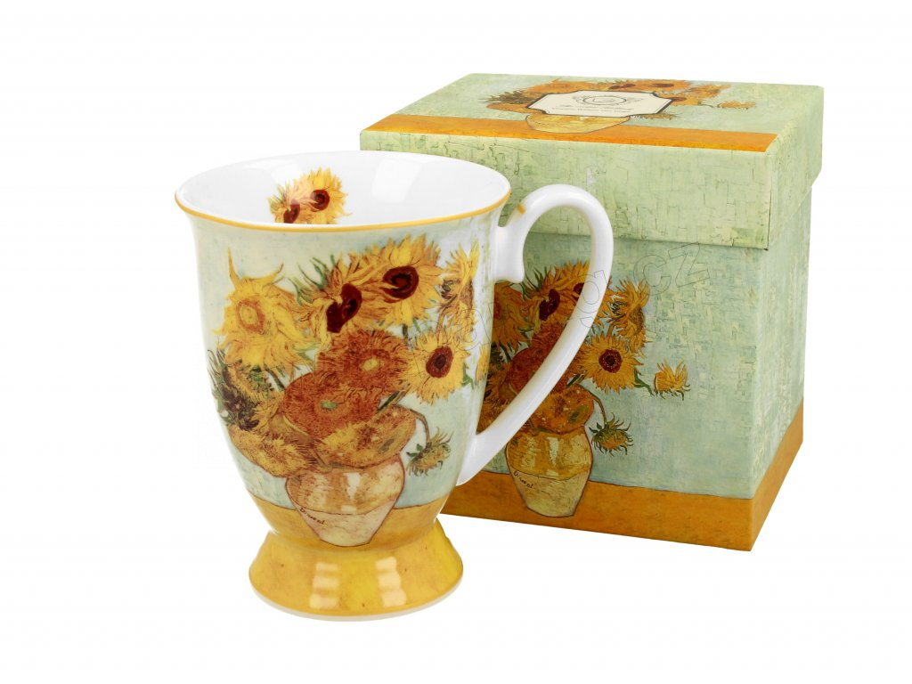 H173 Vincent Van Gogh Slunečnice Hrnek 300 ml na stopce