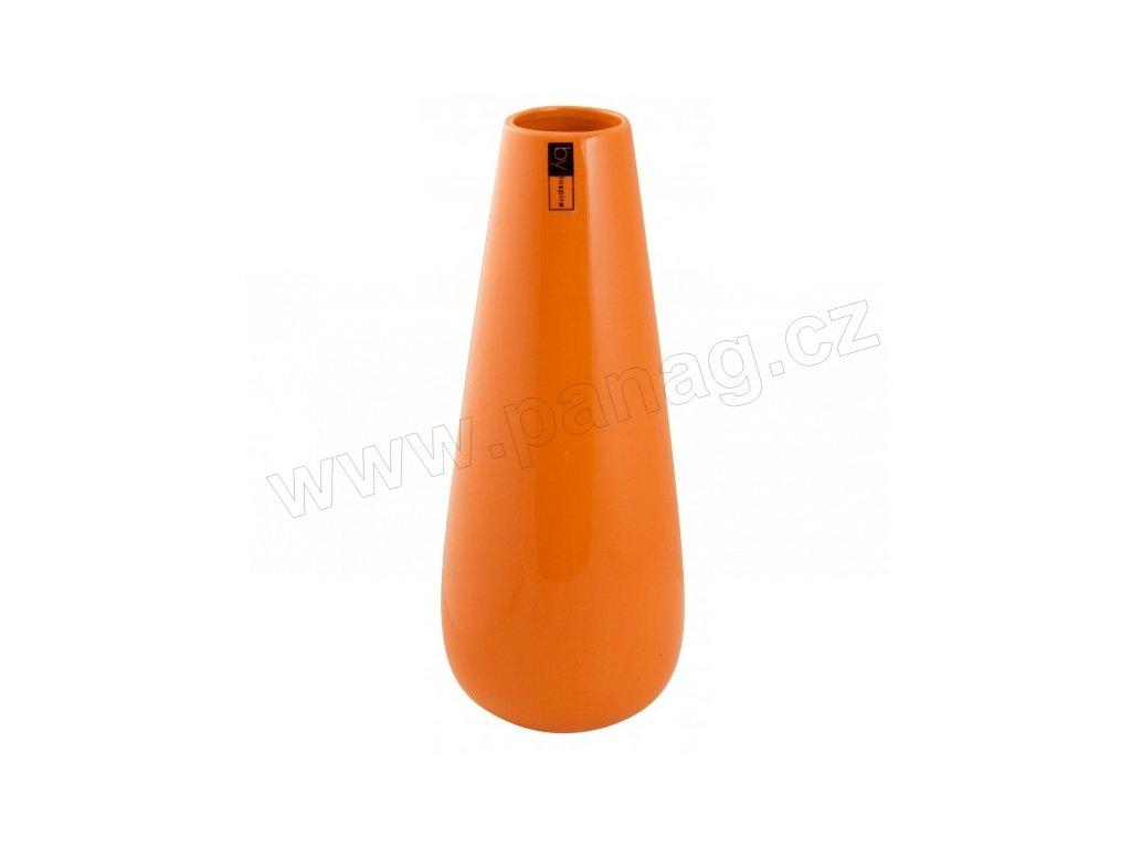 Váza Drop 11 x 31 cm oranžová - by inspire