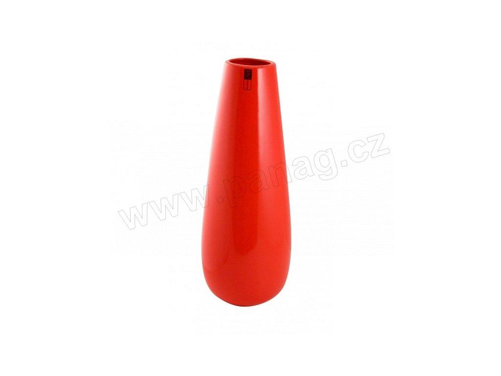 Váza Drop 16 x 41 cm červená - by inspire
