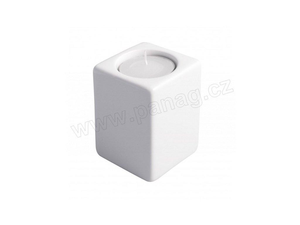 Svícen Quadro 8 cm bílá - by inspire