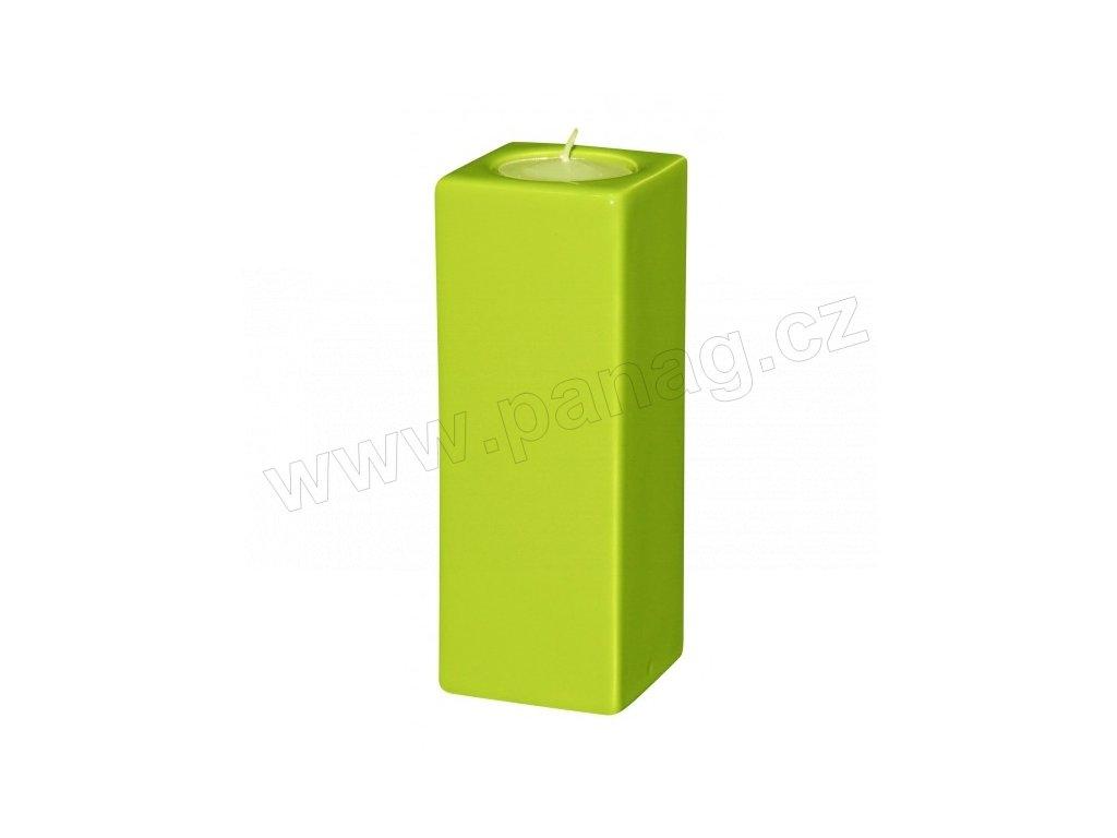 Svícen Quadro high 15 cm zelená - by inspire