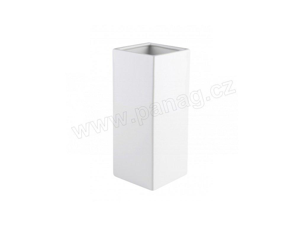 Váza quadro 29 cm bílá - by inspire
