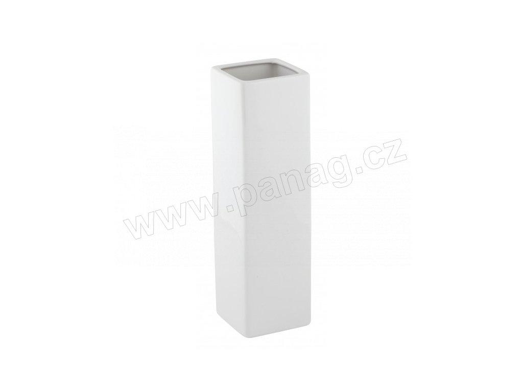 Váza quadro cone 8 x 29 cm bílá - by inspire