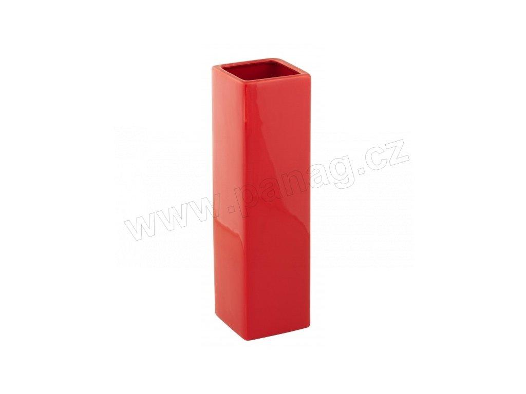Váza quadro cone 8 x 29 cm červená - by inspire