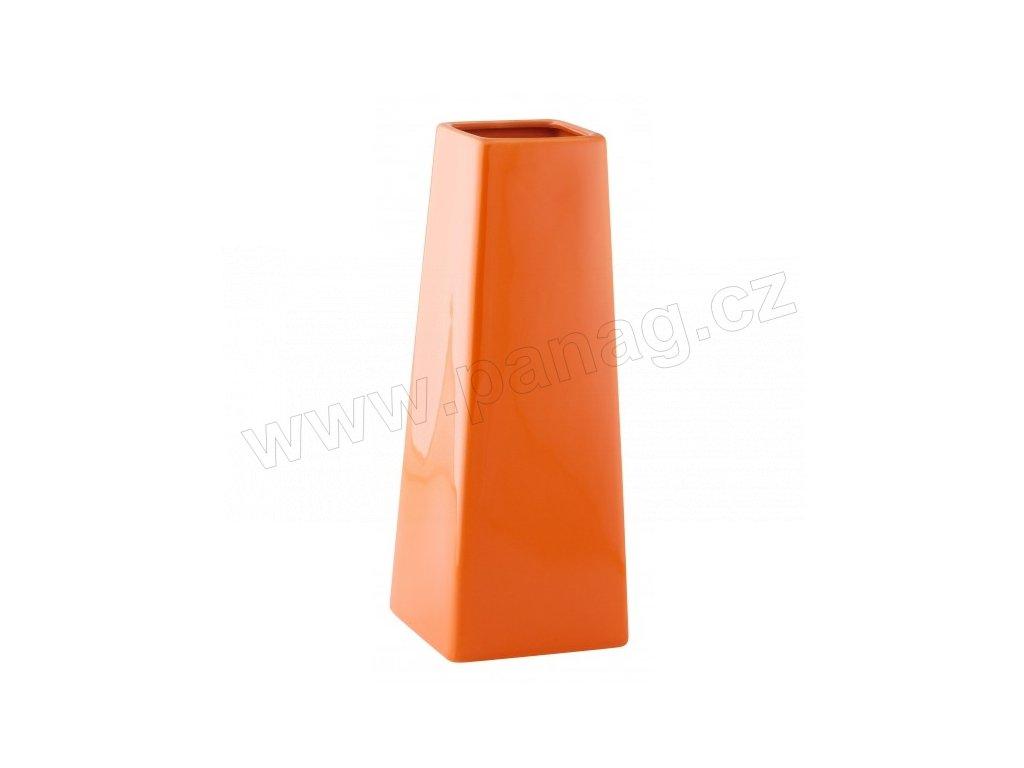 Váza quadro cone 10 x 27 cm oranžová - by inspire