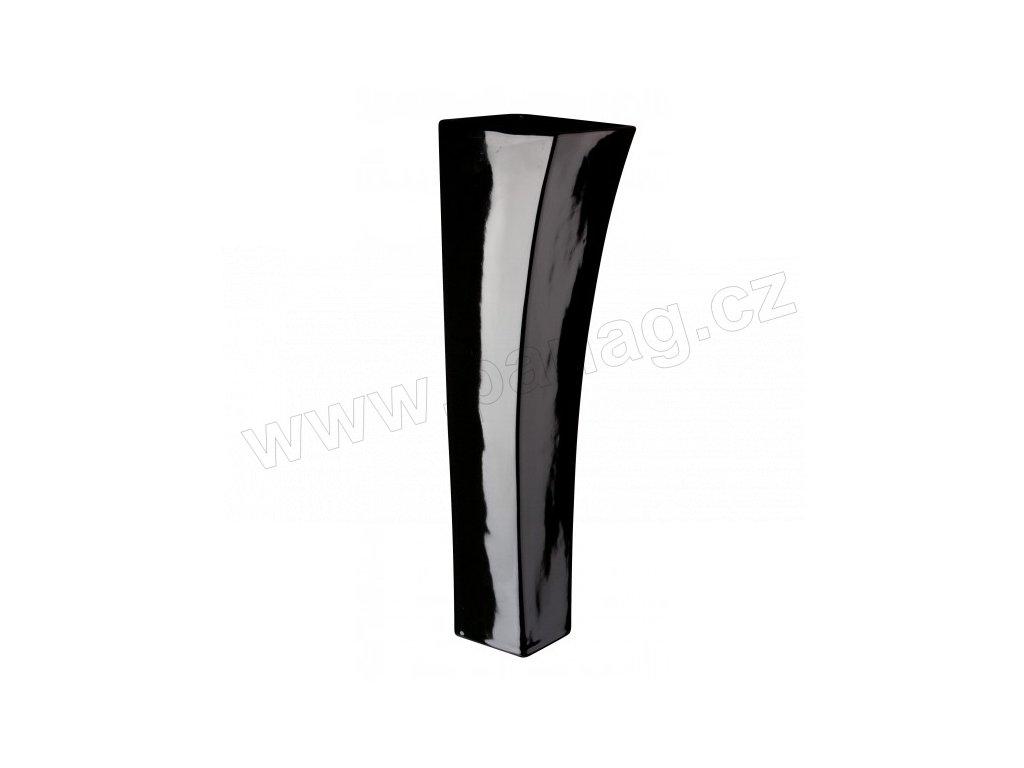 Váza quadro V 12 x 40 cm černá - by inspire