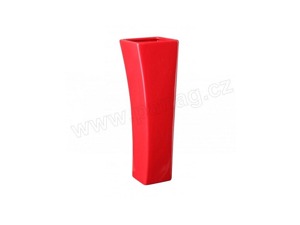Váza quadro V 9 x 29 cm červená - by inspire