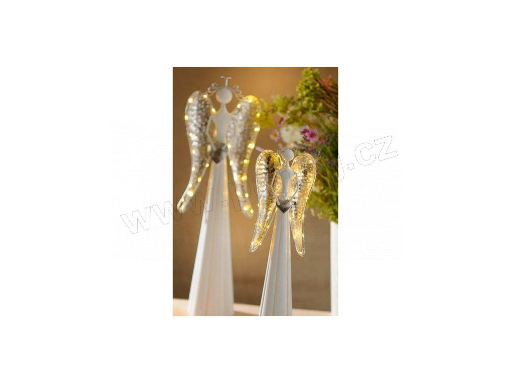 Kovový anděl Holly 33020 54 cm