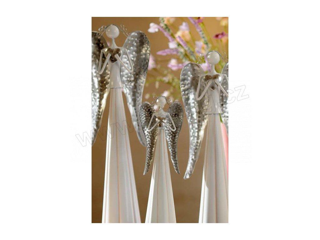 Kovový anděl Zara 33024 30 cm