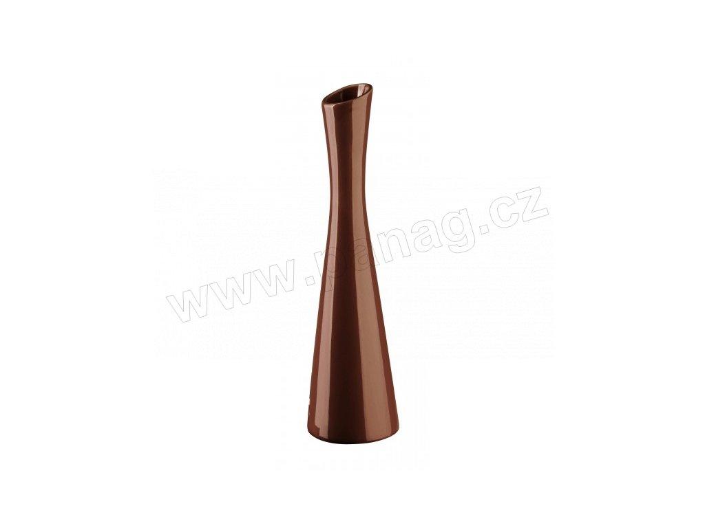 Váza X 7,5 x 25 cm hnědá - by inspire