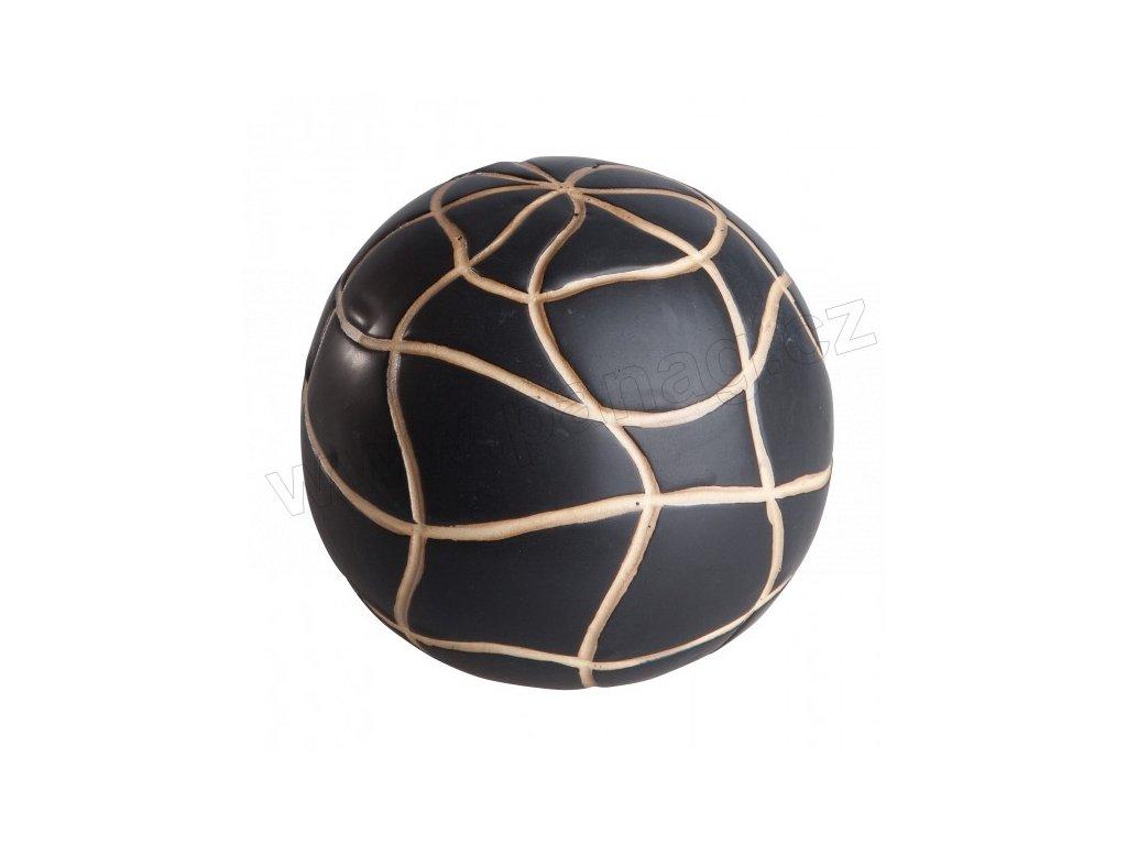 Dekorace koule 13 cm mat. černá/smetanová - by inspire