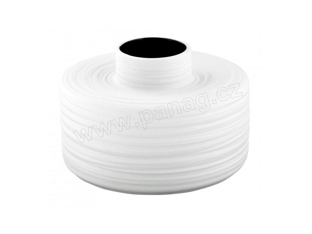 Váza SCRATCH 20x20x13 cm bílá matná - by inspire
