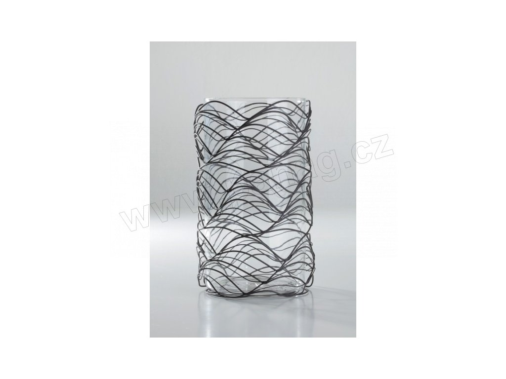 Váza drátěná, kovová 13x13x22,5 cm - by inspire