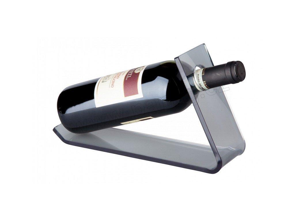 Stojan na 1 láhev vína ( 27,5x33x17cm) akrylik, světlešedá - by inspire