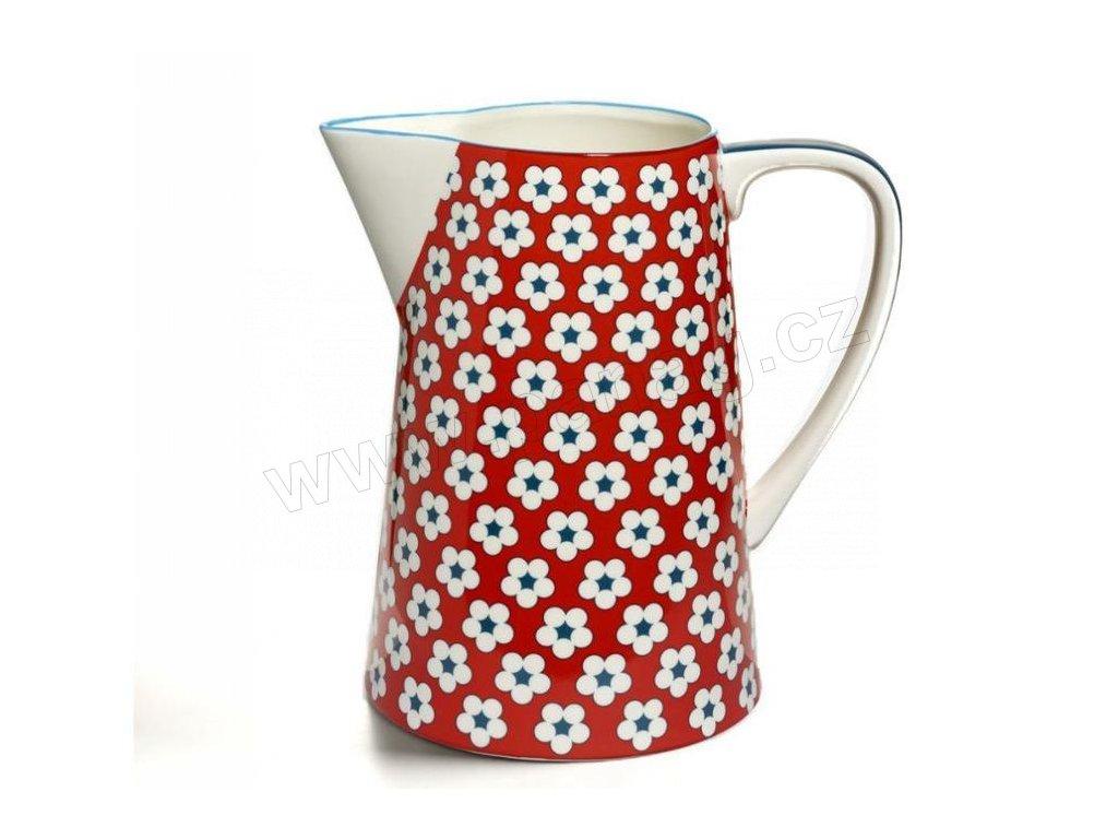 CV11600 Porcelánový džbán 3,5 l červený z kolekce Cotton Bud od Maxwell and Williams.