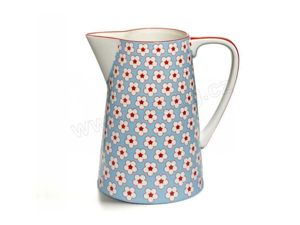 CV13600 Porcelánový džbán 3,5 l světle modrý z kolekce Cotton Bud od Maxwell and Williams.