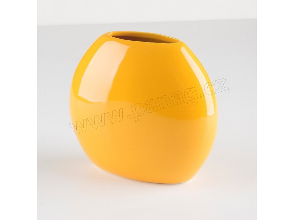 Váza even 16,5x8,5 cm žlutá - by inspire