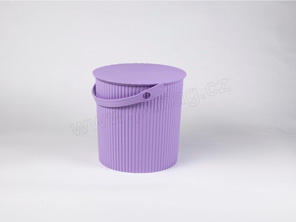 Úložný box/stupínek/sedátko 3 v 1 fialové menší - by inspire