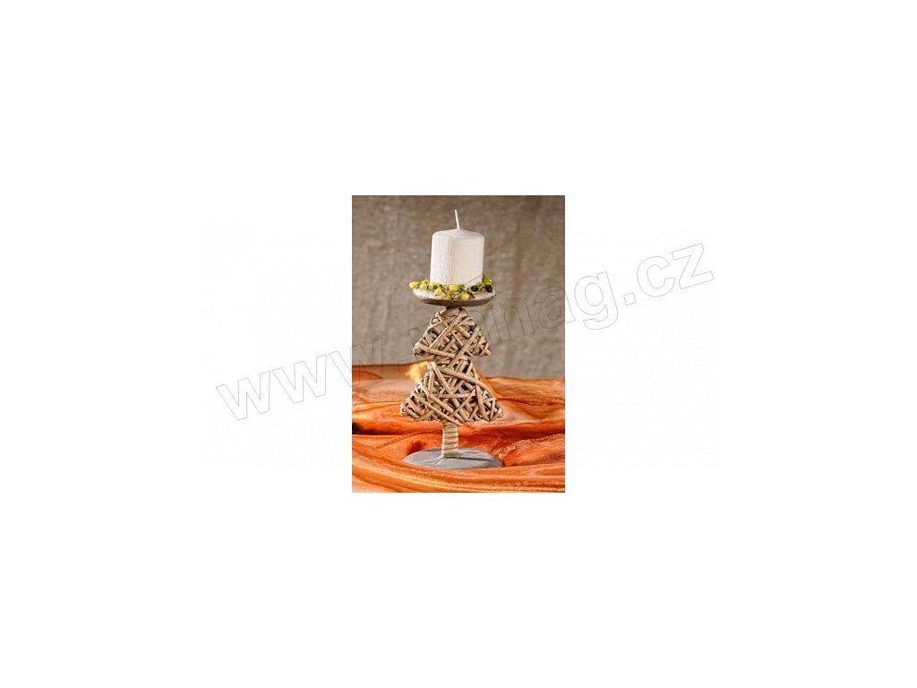 Svícen stromeček proutěný 18x18x10 cm  - Paramit - 2-44-1