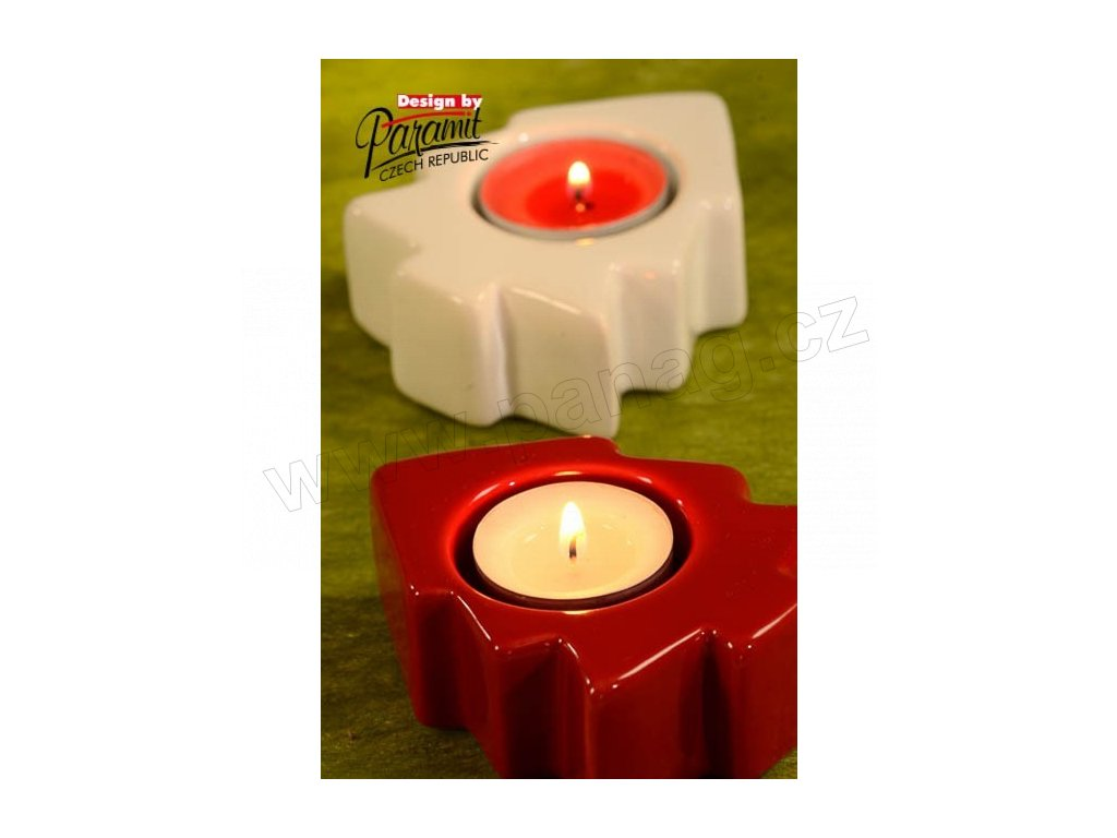 Svícínek stromeček červený  - Paramit - 5122-R