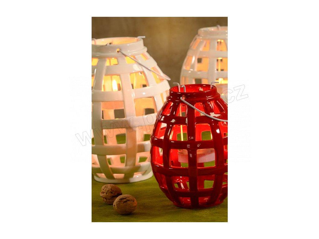 5127 21R Lucerna Berta -  červená - 16 cm
