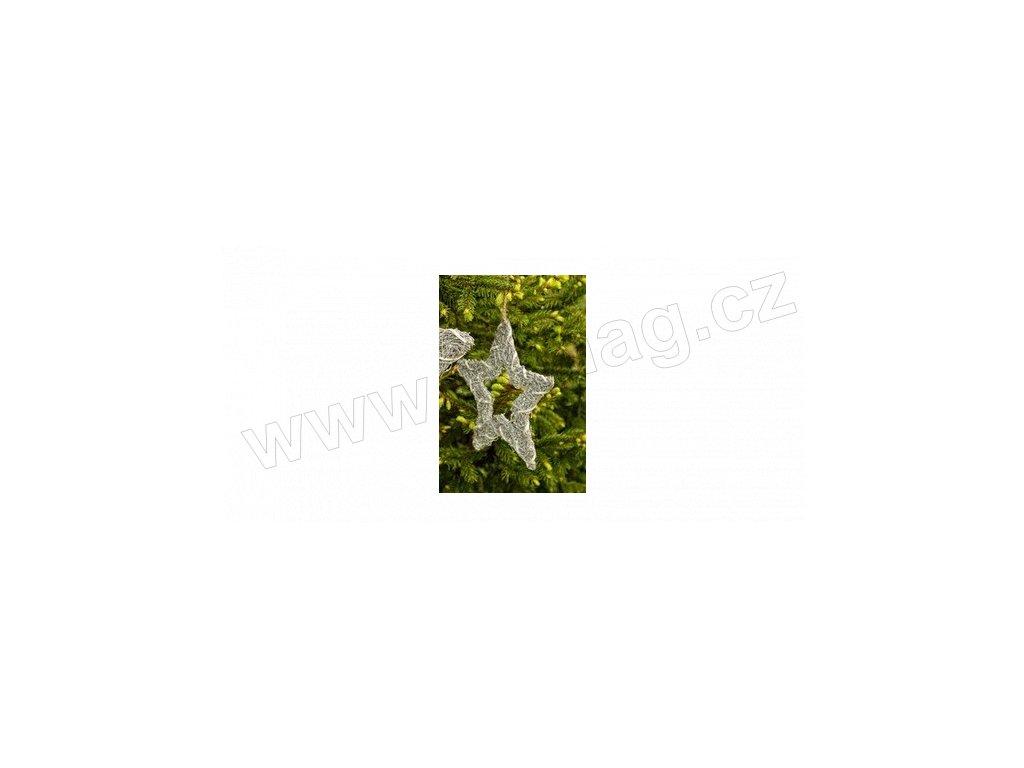 Třpytková hvězdička 20 cm  - Paramit - 5136-20