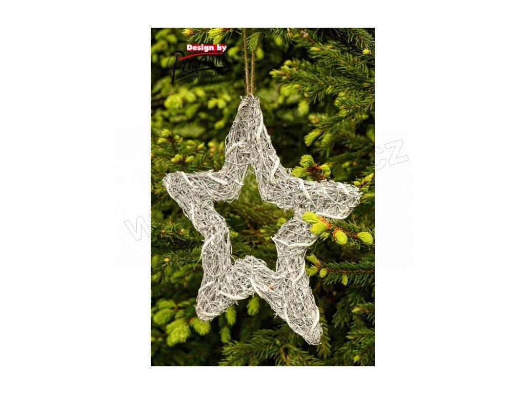 Třpytková hvězdička 25 cm  - Paramit - 5136-25