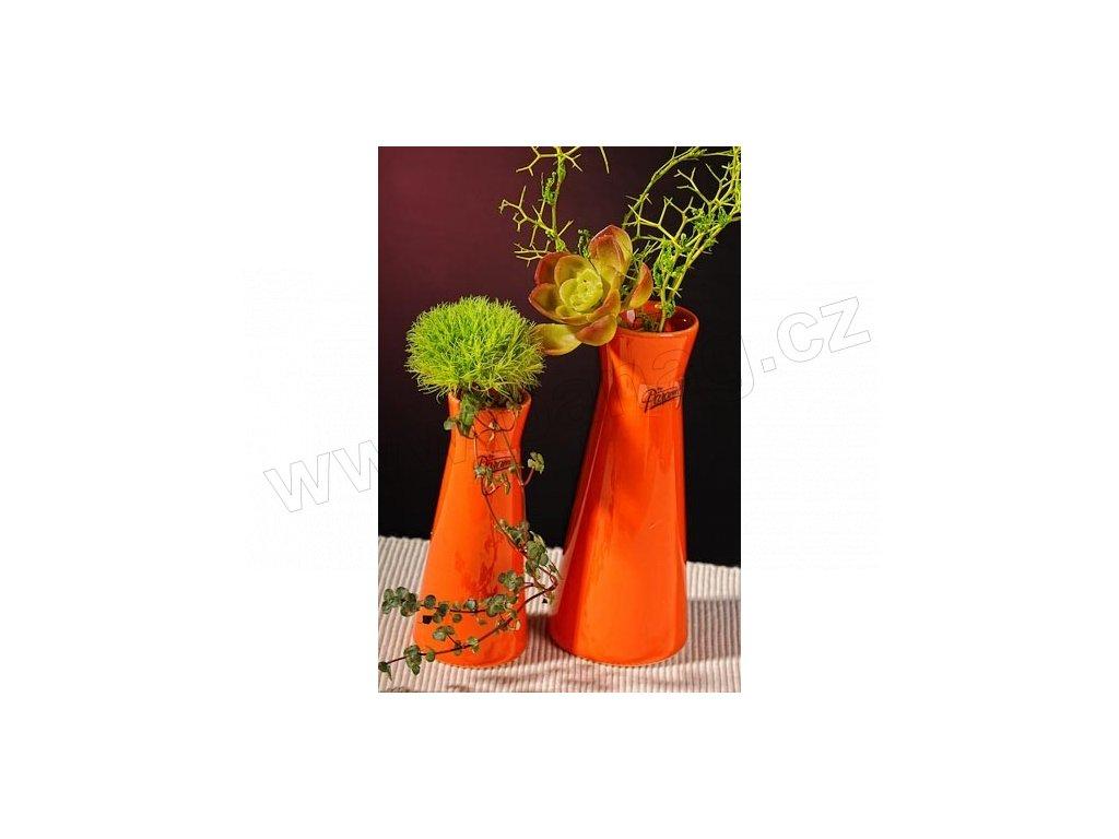 Kapucin váza porcelán oranžová 12,5 cm
