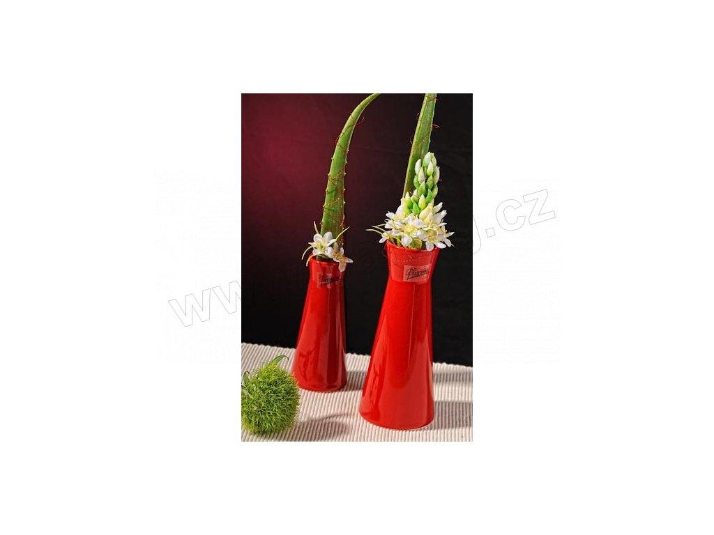 Kapucin váza porcelán červená 12,5 cm