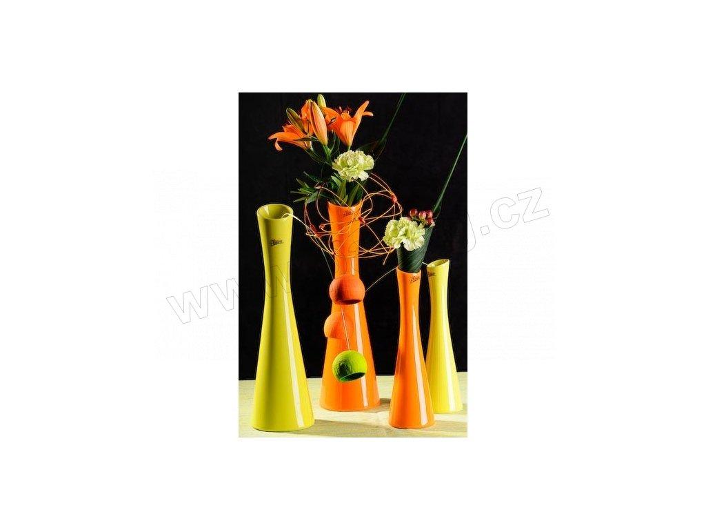 Link váza oranžová 35 cm  - Paramit - 60-35O