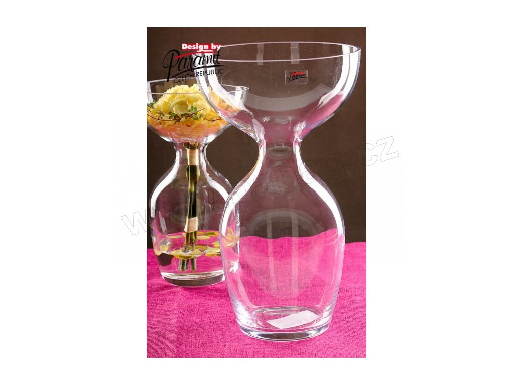 Oflana váza sklo 34 cm  - Paramit - S010-34