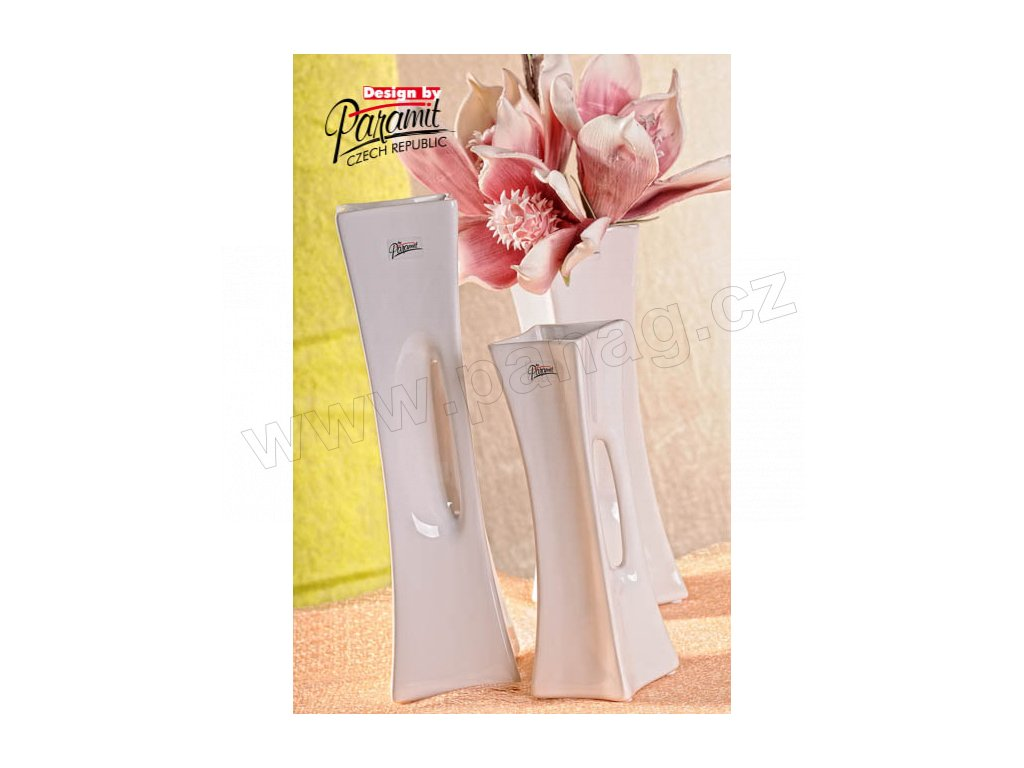 58 35W X váza bílá 30 cm