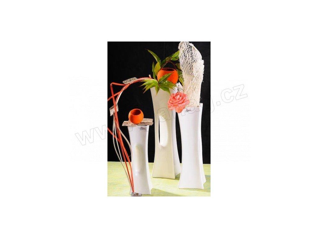 X-Vase váza bílá 35 cm