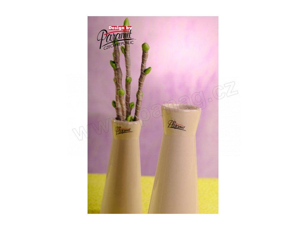 Kapucin váza porcelán béžová 16 cm