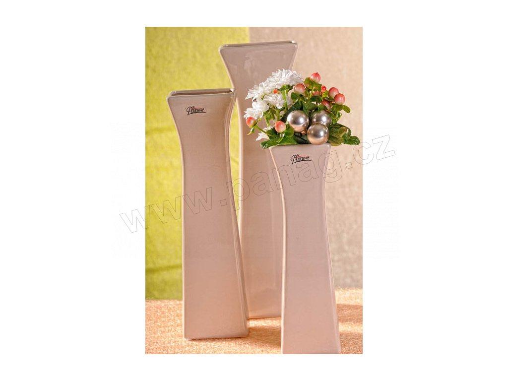 11062 25C Cedreta váza béžová 25 cm